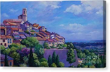 St. Paul De Vence Panoramic Canvas Print by John Clark