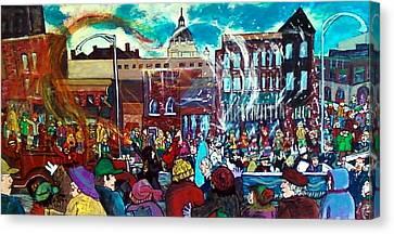 St Paul Winter Carnival Love Parade Canvas Print by Richard  Hubal