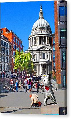 St Pauls Cathedral And Mandeville Canvas Print