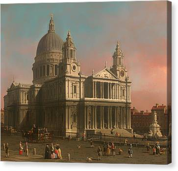 St Paul's Cathedral In London Canvas Print by Mountain Dreams