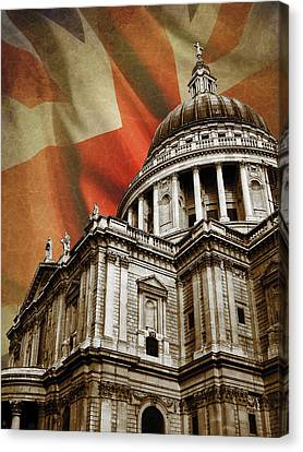 London Skyline Canvas Print - St Paul's Cathedral by Mark Rogan