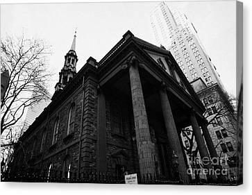 St Pauls Chapel Ground Zero New York City Canvas Print by Joe Fox