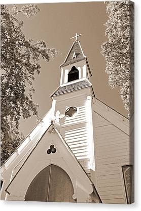St. Paul's Church Port Townsend In Sepia Canvas Print