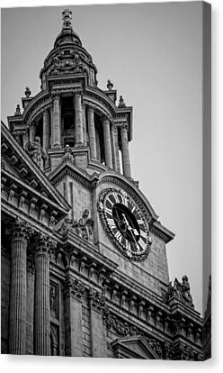 St Pauls Clock Tower Canvas Print by Heather Applegate