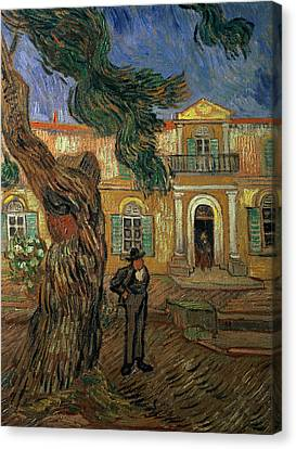 St Pauls Hospital, St Remy, 1889 Canvas Print by Vincent van Gogh