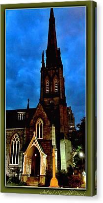 St. Paul's Presbyterian Church Front View Canvas Print by Danielle  Parent