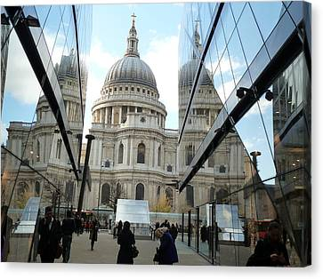 St Paul's Reflected Canvas Print