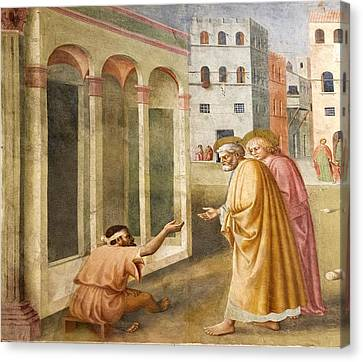 St. Peter Healing The Cripple. Canvas Print
