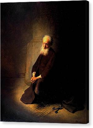 Jerusalem Canvas Print - St. Peter In Prison by Rembrandt van Rijn