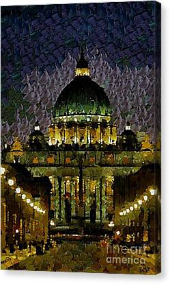 St. Peter's Basilica Canvas Print by Dragica  Micki Fortuna