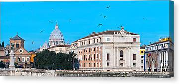 St. Peters Basilica In Vatican City Canvas Print by Panoramic Images