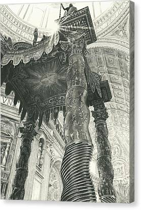 St. Peters Basilica  Canvas Print by Norman Bean