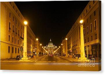 St. Peter's Basilica. Via Della Conziliazione. Rome Canvas Print