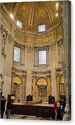 St Peter's Cathedral Canvas Print by Cliff C Morris Jr
