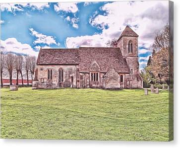 Canvas Print featuring the photograph St Peters Church 3 by Paul Gulliver