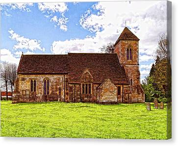 Canvas Print featuring the photograph St Peters Church 4 by Paul Gulliver