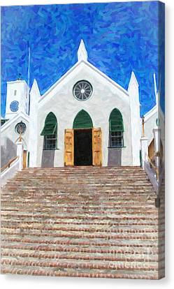 Canvas Print featuring the photograph St. Peter's Church  by Verena Matthew