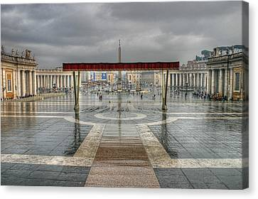 Canvas Print featuring the photograph St. Peter's Square by Glenn DiPaola