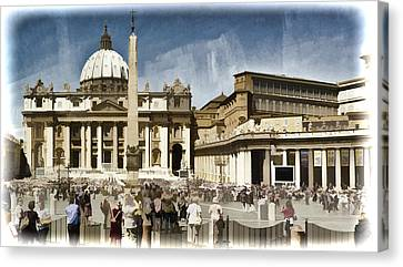 St Peters Square - Vatican Canvas Print
