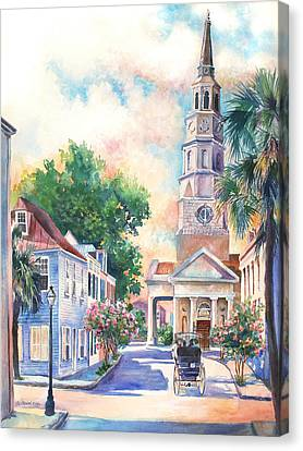 St. Philips Episcopal Church Canvas Print by Alice Grimsley