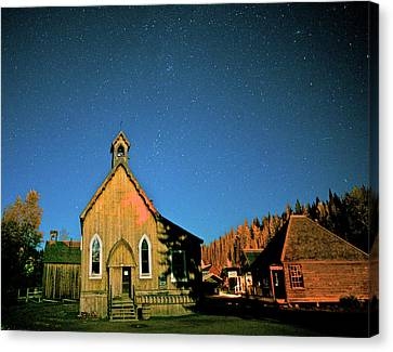 St Savior's Church Under A Summer Night Canvas Print