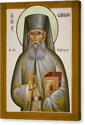 St Savvas Of Kalymnos Canvas Print by Julia Bridget Hayes