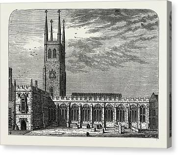 St. Sepulchres Church In 1737 Canvas Print by Litz Collection