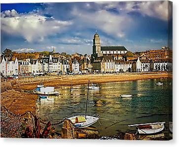 Canvas Print featuring the photograph Saint Servan Anse by Elf Evans