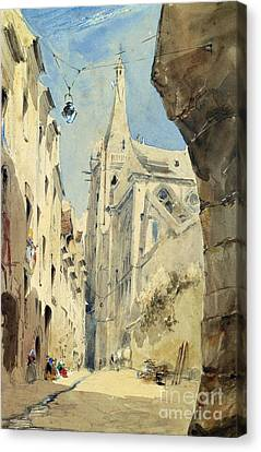 St. Severin Paris Canvas Print by James Holland