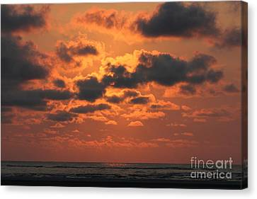 St Simons And Sea Island Sunrise Canvas Print by Reid Callaway