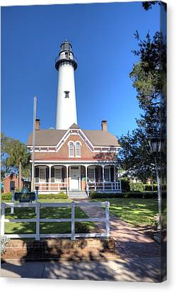 Canvas Print featuring the photograph St. Simons Island Light Station by Gordon Elwell