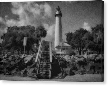 St. Simon's Lighthouse 3 Canvas Print