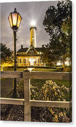 St. Simons Lighthouse Canvas Print by Debra and Dave Vanderlaan