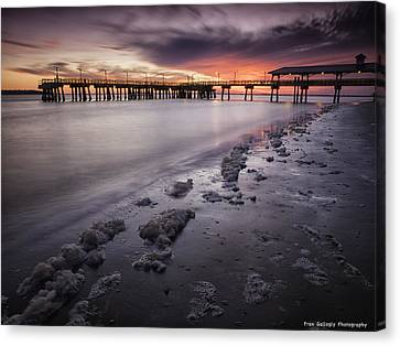 St. Simons Pier At Sunset Canvas Print