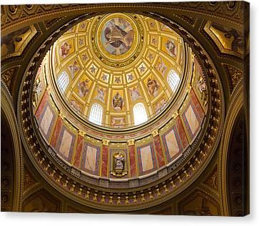 St. Stephen's Basilica Ceiling Canvas Print