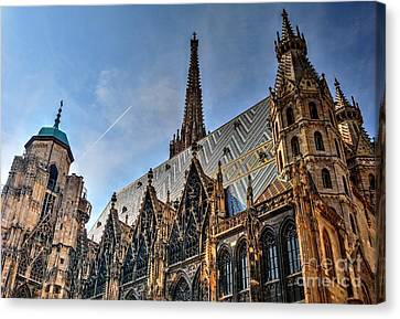 Canvas Print featuring the photograph St. Stephen's Cathedral by Joe  Ng