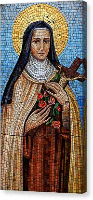St. Theresa Mosaic Canvas Print by Andrew Fare