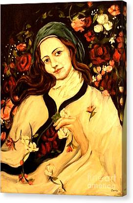 St. Therese Canvas Print by Carrie Joy Byrnes