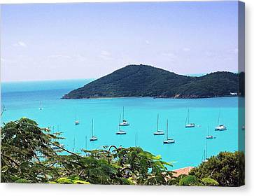St Thomas Harbor Canvas Print by Aimee L Maher Photography and Art Visit ALMGallerydotcom