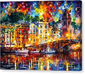 St Tropez Canvas Print by Leonid Afremov