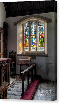 St Tysilio Window  Canvas Print by Adrian Evans