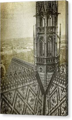 St Vitus Cathedral South Tower View Canvas Print by Joan Carroll