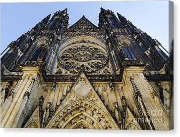 Medieval Temple Canvas Print - St Vitus Church In Hradcany Prague by Jelena Jovanovic