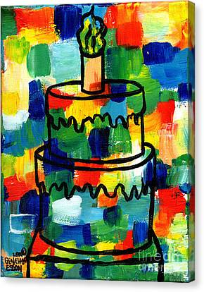 Stl250 Birthday Cake Abstract Canvas Print by Genevieve Esson