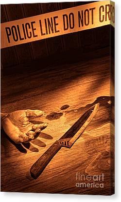 Stabbing Canvas Print