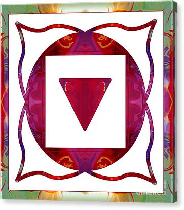 1. Chakra Canvas Print - Stabilized Emotions And Thoughtful Feelings Abstract Chakra Art  by Omaste Witkowski