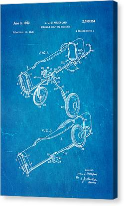 Stableford Golf Trolley Patent Art 1952 Blueprint Canvas Print