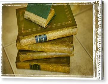 Stack Of Antique Books Canvas Print by Don Hammond