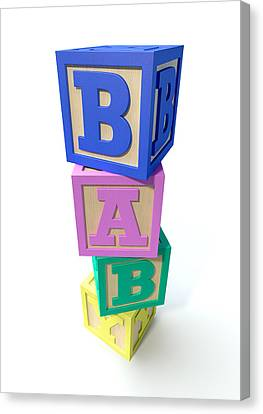 Stacked Baby Blocks Canvas Print