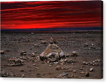 Stacked Beach Rocks Canvas Print